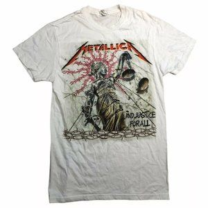 Metallica Justince For All Womens T Shirt Size Sma